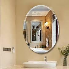 callison oval bevel frameless wall