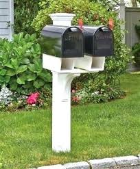 mailbox post ideas. Unique Mailbox Posts Double Post Ideas Twin Star Mail  Wood Vinyl E