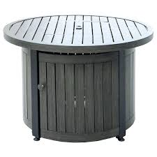 gas outside fire pits endless summer 36 round lp gas outdoor fire pit table with wood
