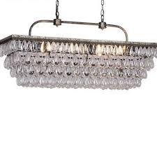 vintage rectangular chandelier glass drops chandelier light for
