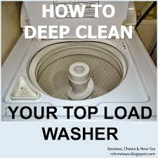 Reviews, Chews & How-Tos: How-to Deep Clean a Top-. Vinegar Washing  MachineCleaning ...
