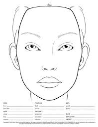 Blank Face Templates Cool 48 Best BLANK FACE CHARTS Images On Pinterest Makeup Face Charts