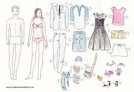 Small Picture Free Printable Paper Doll Cutout Templates for Kids and Adults