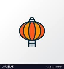 Chinese Symbol Of Light Chinese Lantern Icon Colored Line Symbol Premium