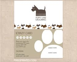 Pet Sitter Business Cards Dog Groomer Business Cards Scottish Terrirers Dog Grooming