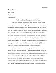 position sample essay electoral college writing teacher tools