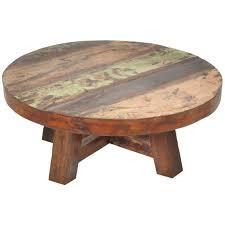 coffee table black round side 36 wood
