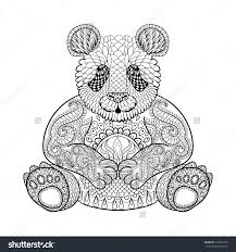 Adult Panda Coloring Pages Adult Panda