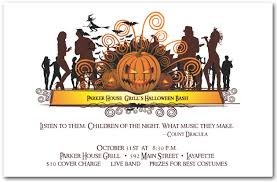 costume party invites dance crowd halloween invitations