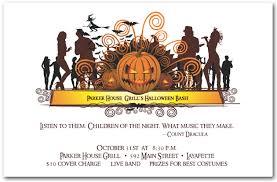 costume party invites dance crowd halloween invitations
