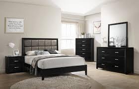Black & Gold Glitter Queen Bed Dresser Mirror