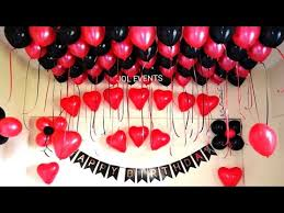 birthday surprise room decoration for
