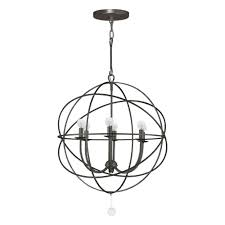6 light english bronze chandelier