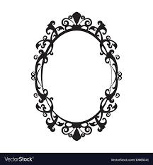 oval frame design. Vintage Oval Mirror Frame Vector Image Design E