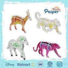 diy painting 3d design cardboard animals puzzles super 3d puzzle animal design 3d puzzles on alibaba com