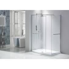 aquaglass closing dedicated right hand shower tray