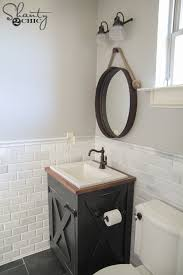 luxury diy bathroom vanity d i y farmhouse shanty 2 chic plan makeover light cover top from dresser idea paint mirror
