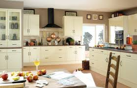 image of modern cream kitchen wood