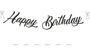Black Happy Birthday Retro Theme Black Happy Birthday Banner