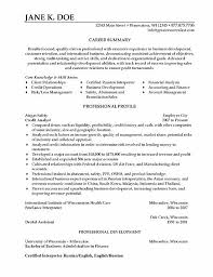 resume templates business operations analyst sample resume market    credit analyst