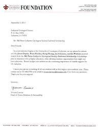 Thank You Letter For Scholarships Enchanting Scholarships Lafayettegeologicalsocietyorg