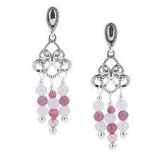 2018 yn pollack sterling silver shades of pink chandelier earrings 10497