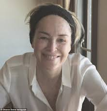 sharon stone 58 shares stunning makeup free photo