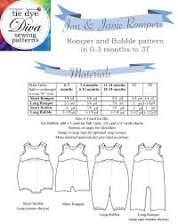 Baby Romper Pattern Free Cool Jon Janie Romper And Bubble Baby Boy And Girl Sewing Pattern 48 To