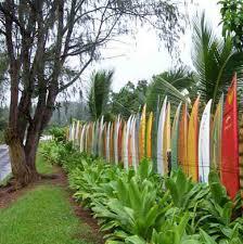 Brilliant garden junk repurposed ideas create artistic landscaping Garden Decor Surf Board Fence Topsimagescom Fence Ideas Ways To Incorporate Salvaged Materials Bob Vila