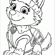 Everestwtrol Coloringge Printableges Free Skye And Everest Paw