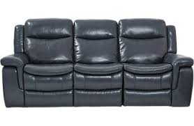 leather couches. Milano Blue Leather Power Plus Reclining Sofa Couches