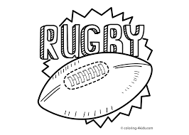 Rugby Sport Coloring Page For Kids