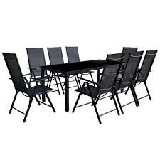 vidaXL <b>9 Piece Folding Outdoor</b> Dining Set Aluminium Sale, Price ...