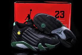 Jordan Retro Chart Women Air Jordan Retro 14 Shoes Black Green Shoes Jordans