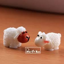 Giá Siêu Rẻ] Chú Cừu Nhỏ - Phụ kiện trang trí cho cây xanh để bàn làm việc,  mô hình trang trí cho bể cá, tiểu cảnh tại TP. Hồ Chí Minh