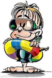 Bildresultat för barn badar tecknat