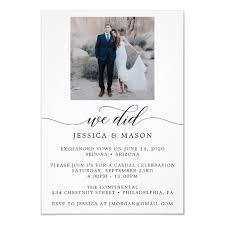 celebration invite we did celebration invite eloped announcement