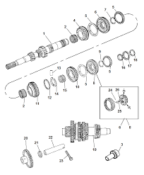 2010 chrysler sebring input shaft counter shaft and reverse shaft