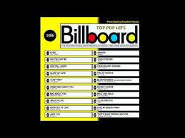 Pop Charts 1980 Billboard Top Pop Hits 1986