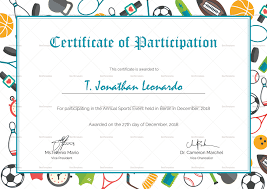 Sports Participation Certificates Magdalene Project Org