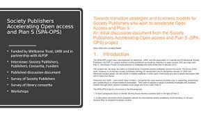 Gray And Wise Project Project Update Society Publishers Accelerating Open Access