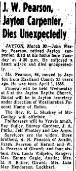 John Wesley Pearson Obit - Newspapers.com