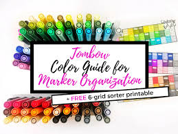 Tombow Color Guide For Marker Organization Free Printable