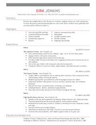 Best Nanny Resume Nanny Resume Nanny Resume Sample Best Free Sample ...