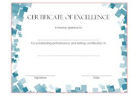 Certificate Of Excellence Template Word Certificate of Excellence 100 The Best Template Collection 80