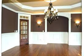 two tone gray walls with chair rail living room molding divides pleasing decorations for graduation party ideas