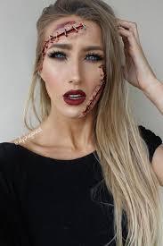 party cut up stapled face makeup idea makeup makeupideas makeuplooks partymakeupideas