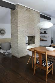 fireplace midcentury