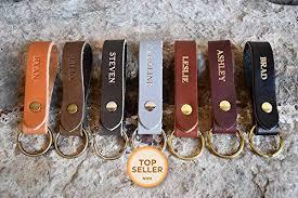 Personalized Custom Leather Keychain | Any Name ... - Amazon.com