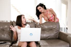 Brunette lesbos Adriana Chechik Veronica Avluv fisting and.